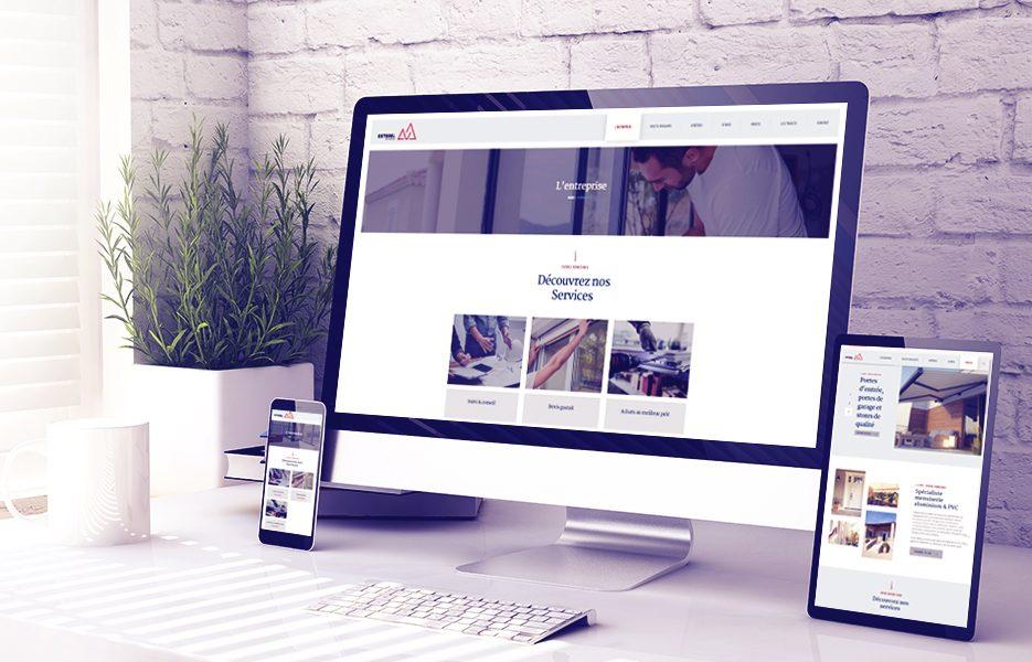 Site Esterel Fermetures responsive