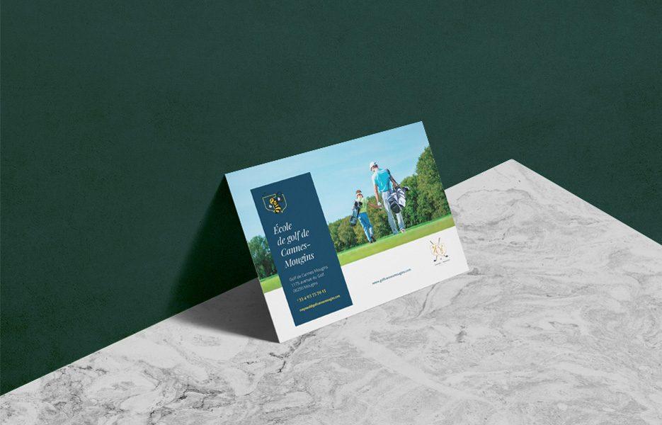 Brochure école de Golf Cannes-Mougins